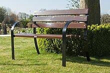Gartenbank 'Las Ramblas' 120 cm, moderne Gartenbank, aus Stahl mit Holz, sehr bequem