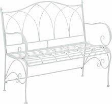 Gartenbank Marlow Home Co. Farbe: Weiß antik