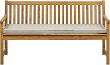 Gartenbank mit Auflage Beige Akazienholz 160 cm