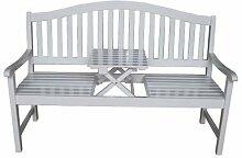 Gartenbank mit Tischablage aus FSC®-