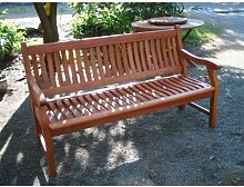 Gartenbank NEW JERSEY, 2-Sitzer, Holzbank aus Hartholz Eukalyptus