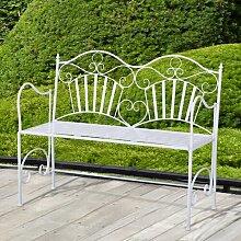 Gartenbank Nikhil aus Metall Lily Manor