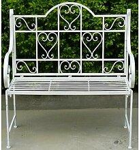 Gartenbank Romance aus Aluminium Lily Manor
