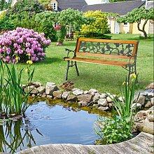 Gartenbank Rosen aus Kunststoff, Massivholz und