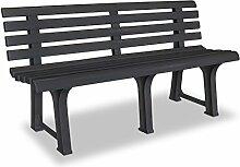 Gartenbank Sitzbank Bank | 3 Sitzer | Kunststoff |
