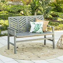 Gartenbank Skoog aus Holz Longshore Tides Farbe: