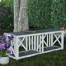 Gartenbank Stathelle aus Holz Garten Living Farbe: