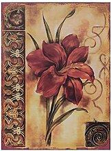 Gartenblume Rot Vintage Blechschild Wanddeko Blumen Garten Liebhaber Geschenk