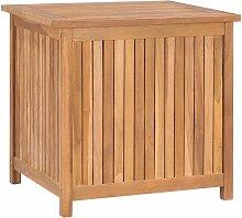 Gartenbox 60x50x58 cm Massivholz Teak