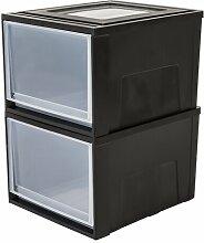 Gartenbox aus Kunststoff IRIS Farbe: Schwarz