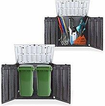 Gartenbox Mülltonnenbox Gerätebox Schuppen für