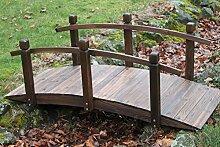 Gartenbrücke aus Holz, 1,5 m brei