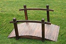 Gartenbrücke aus Holz, 1 m brei