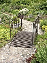 Gartenbrücke Brücken Garten Terasse Teich Bachlauf Brunnen Deko Dekoration Stahl