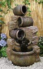 Gartenbrunnen Kaskadenbrunnen mit Ölkrügen