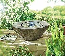 Gartenbrunnen Nero - Quellstein Brunnen - Beleuchtet - Polyresin - ca. B30 x T24 x H12 cm