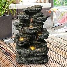 Gartenbrunnen Wandbrunnen LED
