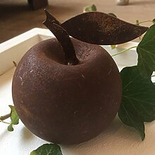 Gartendeko Apfel rund Metall Rost Deko