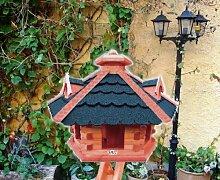 Gartendeko aus Holz mit BLAU grau BG60blOS Vogelhäuser