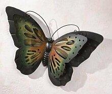Gartendeko aus Metall Schmetterling aus Metall in matt schwarz 51 cm groß Außendeko aus Metall Deko-Schmetterling für den Außenbereich