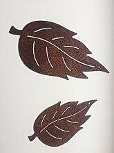 Gartendeko Blatt Rostblatt zum Hinlegen Metall Rost Deko (groß)