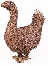 Gartendeko Ente aus Naturfaser Salim wetterfes