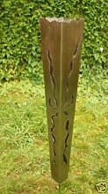 Gartendeko Fackel aus Edelstahl 100cm mit Bodenspieß