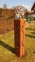 Gartendeko Fackel Doris 125cm mit Muster