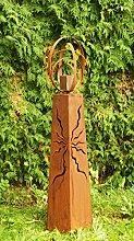 Gartendeko Fackelsäule Rost Säule konisch mit