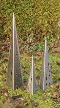Gartendeko Familie Raindrops Eisen blank 100cm +