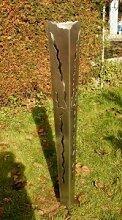 Gartendeko Feuer Fackel aus Edelstahl 125cm mit Bodenspieß