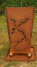 Gartendeko Feuerkorb Eisen Rost Feuersäule *