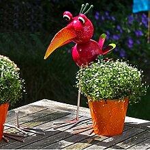 Gartendeko Figur mit seitlichem Pflanztopf