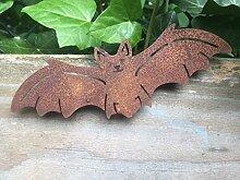 Gartendeko Fledermaus mit Dorn Baumtier Metall Rost Deko