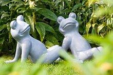 Gartendeko Frosch Glücksbringer Figur für den Garten