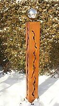 Gartendeko Frühling Rostsäule 100 cm mit
