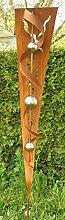 Gartendeko Garten Skulptur Rost Stecker mit Glanz