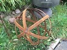 Gartendeko , GartenDekokugel aus Metall , EdelRos