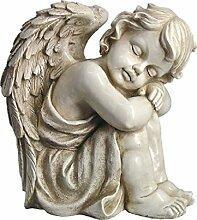 Gartendeko Gartenfigur Grabdeko Schutzengel Engel Engelchen Cherubin