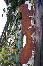 Gartendeko Gartenstecker Eichhörnchen Edelrost Baumstamm Rost Deko Design