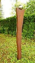 Gartendeko geschwungene Rostsäule Säule mit