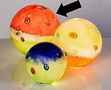 Gartendeko Glaskugel rot/hellgrün Kugel für