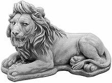 Gartendeko herrlicher Stein - Löwe liegend ALS