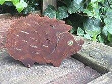 Gartendeko Igel mit Dorn Baumtier Metall Rost Deko