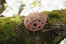 Gartendeko Käfer mit Dorn Baumtier Metall Rost Deko