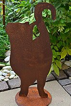 Gartendeko Katze-hübsche stabile Katze aus Stahl