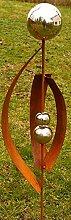 Gartendeko Kleiner Fächer Rost Stecker 120 cm mit