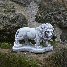 Gartendeko kleiner Stein - Löwe liegend Torwächter Gartendeko oder Zuhause aus Steinguss frostfes