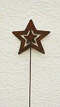 Gartendeko Rost Eisen Stecker Stab Sterne 120cm