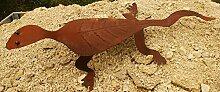 Gartendeko Rost Gecko schöner Garten